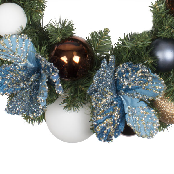 Nordic Winter Theme Range - 60cm Pre-Decorated Wreath