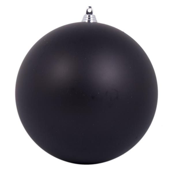 Black Shatterproof Baubles  - Pack of 4 x 140mm Matt