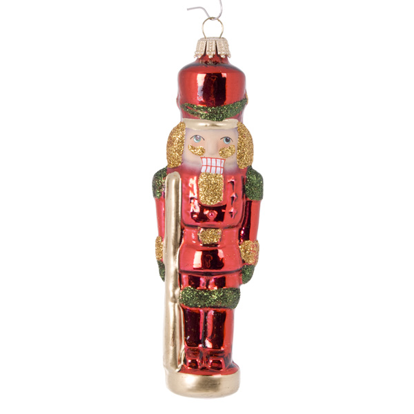 Krebs Glas Lauscha Collectable Glass Nutcrackers - 2 X 13cm (021-20220)