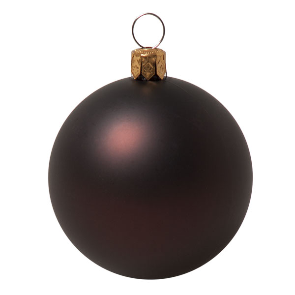 Luxury Brown Satin Finish Shatterproof Baubles - Pack of 18 x 60mm