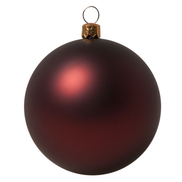 Luxury Burgundy Satin Finish Shatterproof Baubles - Pack of 6 x 80mm
