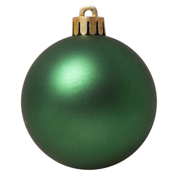 Holly Green Fashion Trend Shatterproof Baubles - Pack Of 12 x 60mm