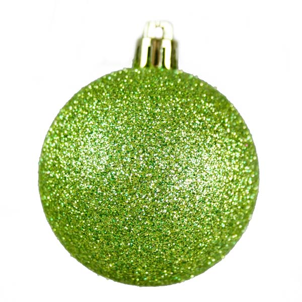 Green Mixed Finish Shatterproof Baubles - 24 X 60mm