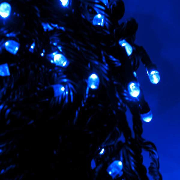 Konstsmide 11.85m Length Of 80 Blue Indoor and Outdoor Multifunction LED Fairy Lights Black Cable