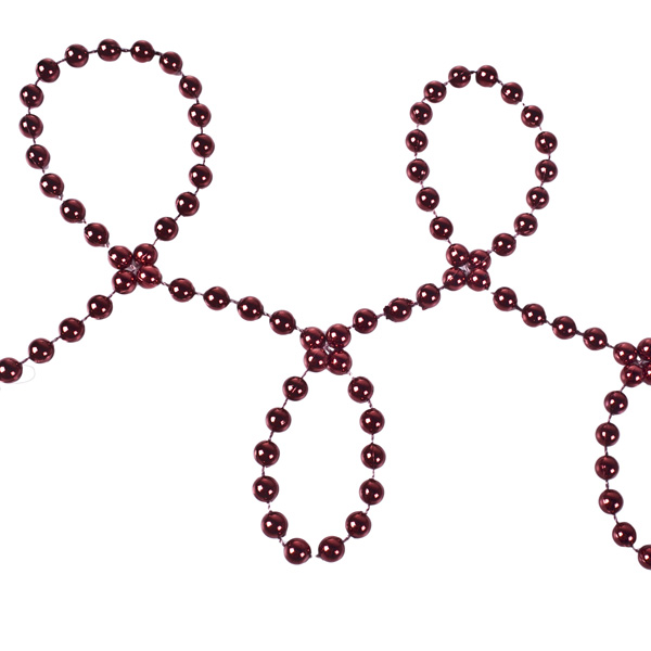 Dark Red Bead Chain Garland - 8mm x 10m