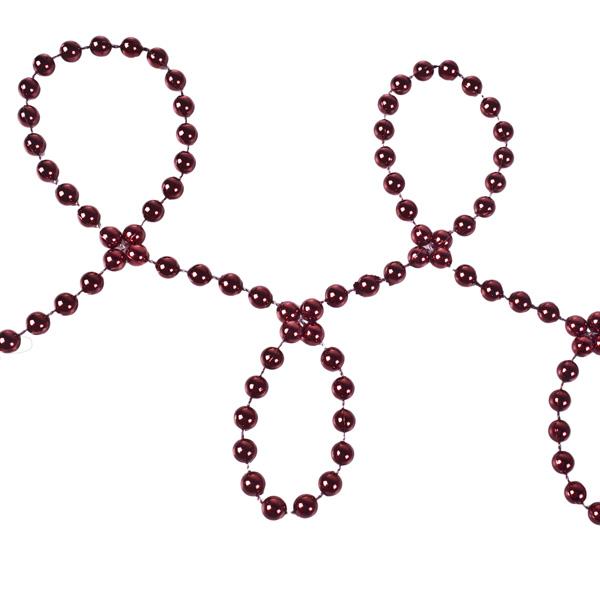 Dark Red Bead Chain Garland - 8mm x 10m