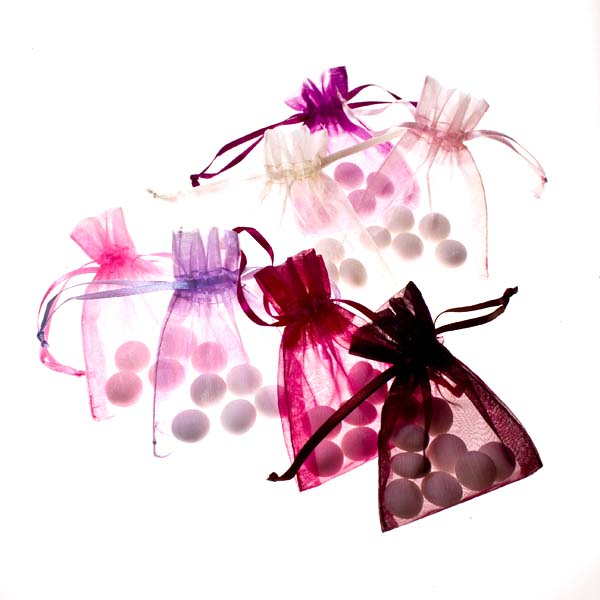 Pink Organza Favour Bag - 3 X 4 Inch