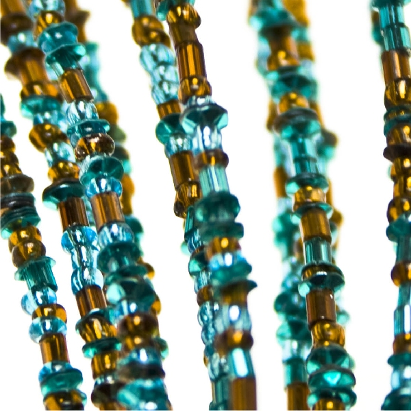 Turquoise And Copper Beaded Pick - 40cm