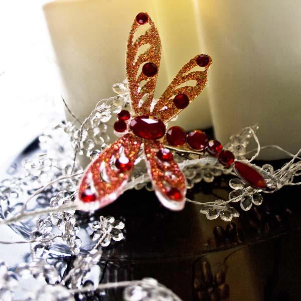 Clear Acrylic Flower Wedding Garland 110cm