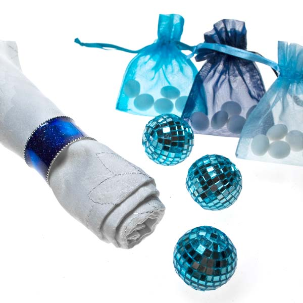 Light Blue Organza Favour Bag - 3 X 4 Inch
