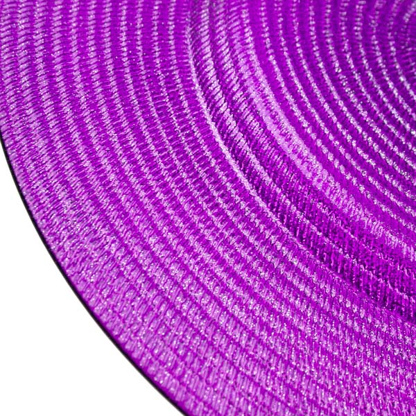 Decorative Glass Amethyst Purple Charger Plates -  34cm