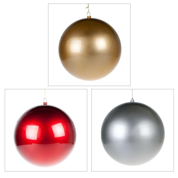 Metallic Finish Shatterproof Bauble - 400mm