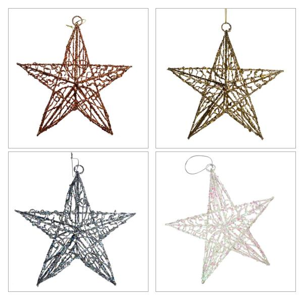 Hanging Sequin Star - 24cm