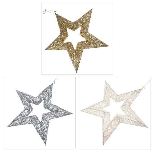 Hanging Sequin Star - 45cm
