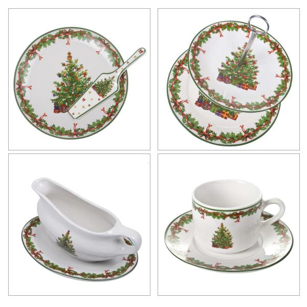Traditional Christmas Tree Design Kitchenware Range