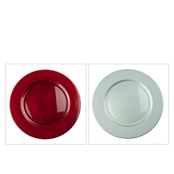 Luxury Lacquer Finish Round Charger Plate - 33cm Diameter