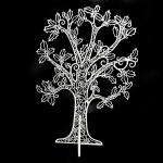 015-25536-WH £10 White Glitter Finish 2D Filligree Table Top Tree W...  Click to view