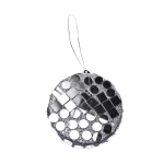 021-11598-10D £1.75 Silver Mirror Hanging Decoration - 10cm Disc...  Click to view