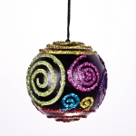 021-13486 £4 Multicoloured Swirl Bauble - 80mm...  Click to view
