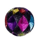 021-13489-BM10 £4.5 Black & Multicoloured Diamond Cut Glitter Bauble -...  Click to view