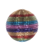 021-13689-100 £5.25 Multi Coloured Striped Cord Bauble - 100mm...  Click to view