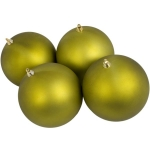 021-14803-140-LG £16 Lime Green Shatterproof Baubles  - Pack of 4 x 140...  Click to view