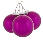 021-16384-PK £6 Trio Of Shiny Pink Seamless Shatterproof Baubles -...  Click to view