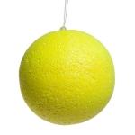 Neon Yellow Beaded Bauble - 100mm