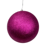 021-22365-AU-250 £17.25 Aubergine Shatterproof Glitter Bauble - 250mm...  Click to view