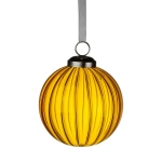 021-22484-GD £4.5 Transparent Gold Ribbed Glass Bauble - 8cm...  Click to view