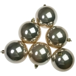 021-22545-080-CG £10 Pearlised Champagne Gold Shatterproof Baubles - 6 ...  Click to view
