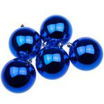 021-22549-080-BL £7.5 Blue UV Protected Shatterproof Baubles - Pack of 6...  Click to view