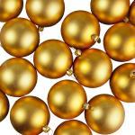 021-27207-GD £16.5 Luxury Gold Matt Shatterproof Baubles - Pack of 24...  Click to view