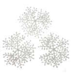 022-03542 £1.5 White Flocked Hanging Snowflakes - 3 x 23cm...  Click to view