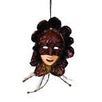 022-06435-BT £6.5 Brown/Taupe Mask Decoration - 20cm...  Click to view