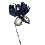 022-10149-BS £8.5 Black & Silver Decorative Mask - 5cm X 16cm...  Click to view