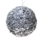 022-10302-SL £7 Silver Glitter And Bead Ball - 15cm...  Click to view