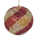 022-10312-RG £4.75 Red & Gold Decorative Harlequin Beaded Ball - 10cm...  Click to view