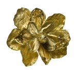 022-12844-GD £4.75 Gold Magnolia Flower On Clip - 16cm...  Click to view