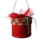 022-13477-RD £4.5 Red & Gold Round Gift Box Hanging Decoration - 7cm...  Click to view