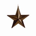 022-13668-CO £5 Shatterproof 3D Cocoa Brown Shiny Star Hanging Dec...  Click to view