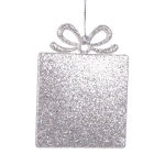 022-13834-SL-SQ £2 Platinum Square Gift Box Shape Decoration - 9cm...  Click to view
