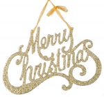 022-14910-GD £1.75 Gold Merry Christmas Hanging Decoration - 25cm...  Click to view