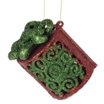 022-15360-GR £2 Green & Red Glittered Parcel Hanging Decoration - ...  Click to view