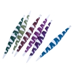 022-16007 £9 Pack Of 6 Gisela Graham Hanging Glittered Spiral I...  Click to view