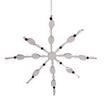 022-16343 £3 Bead & Mirror Snowflake Decoration - 20cm...  Click to view