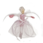 022-17880-PK £3 Pink Ballet Fairy Hanging Decoration - 13cm...  Click to view