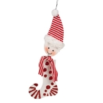 022-17882 £4 Red & White Snowman Stocking Decoration - 9.5cm X ...  Click to view