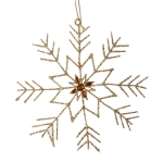 022-17940-GD £3.5 Gold Snowflake Hanging Decoration - 15cm X 16cm...  Click to view