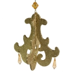 022-18311 £1.25 Gold Chandelier Hanging Decoration - 11cm X 11cm X...  Click to view